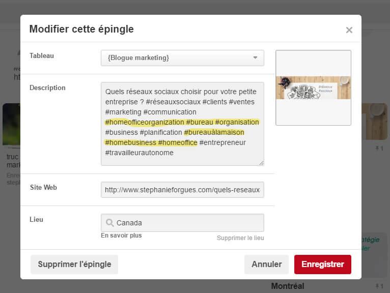 vendre avec Pinterest, stratégie web